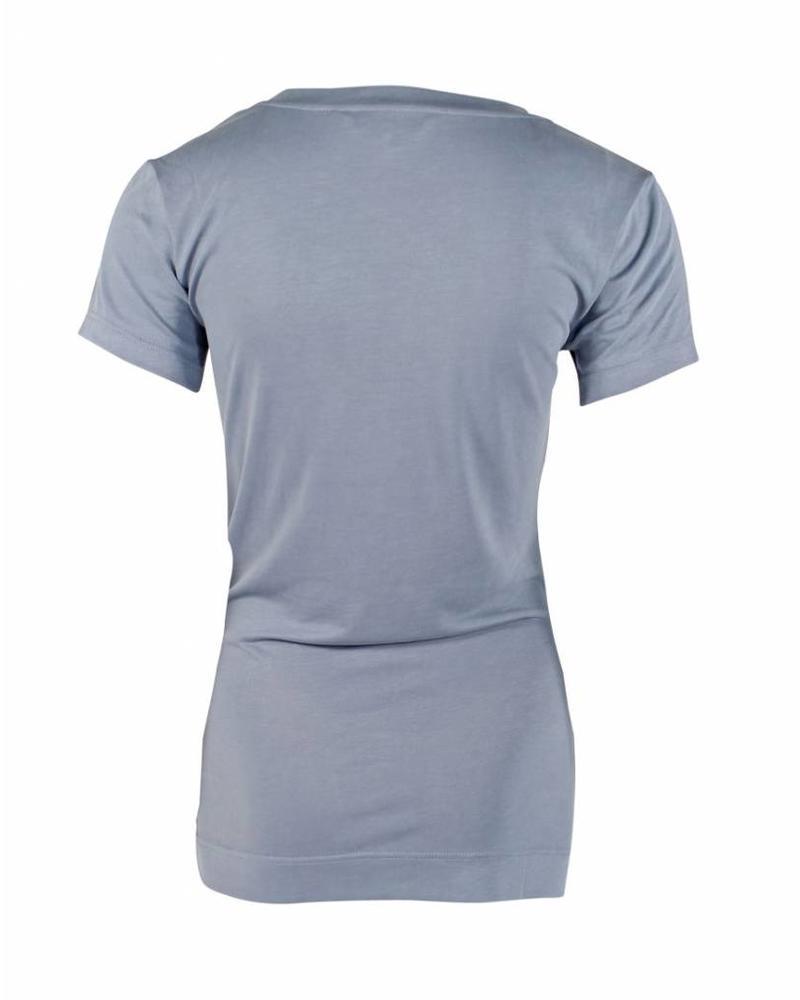 Longlady Shirt Tinie Lichtblauw