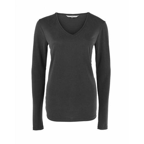 Longlady Longlady Shirt Tonny Black