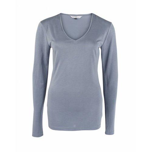 Longlady Longlady Shirt Tonny Lichtblauw