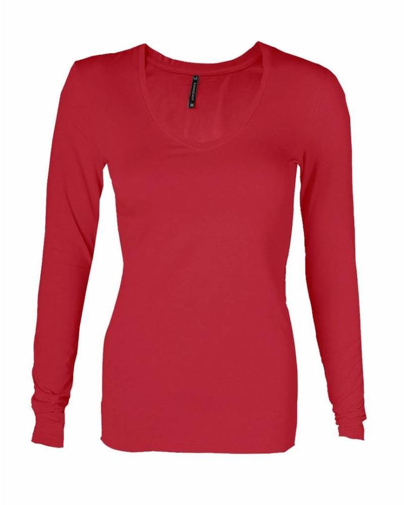 Longlady Shirt Tanja Rood
