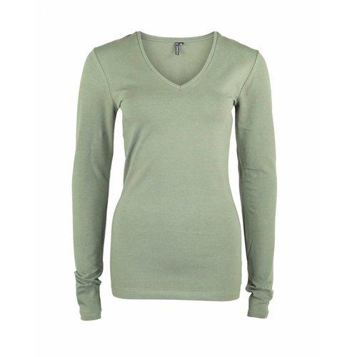 Longlady Longlady Shirt Tanja Dusty Khaki