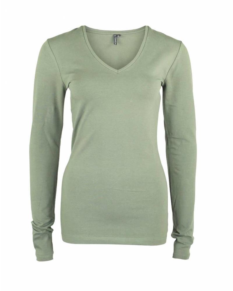 Longlady Shirt Tanja Dusty Khaki