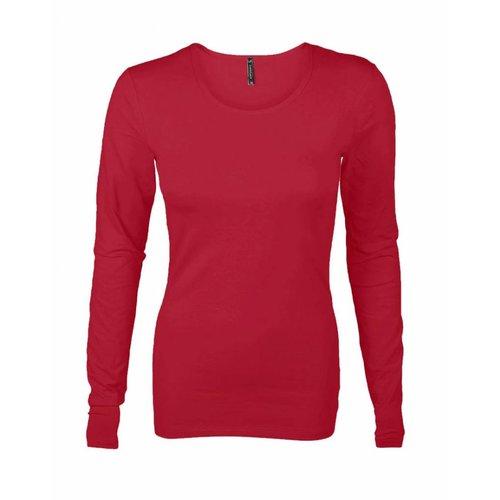 Longlady Longlady Shirt Tamilia Rood