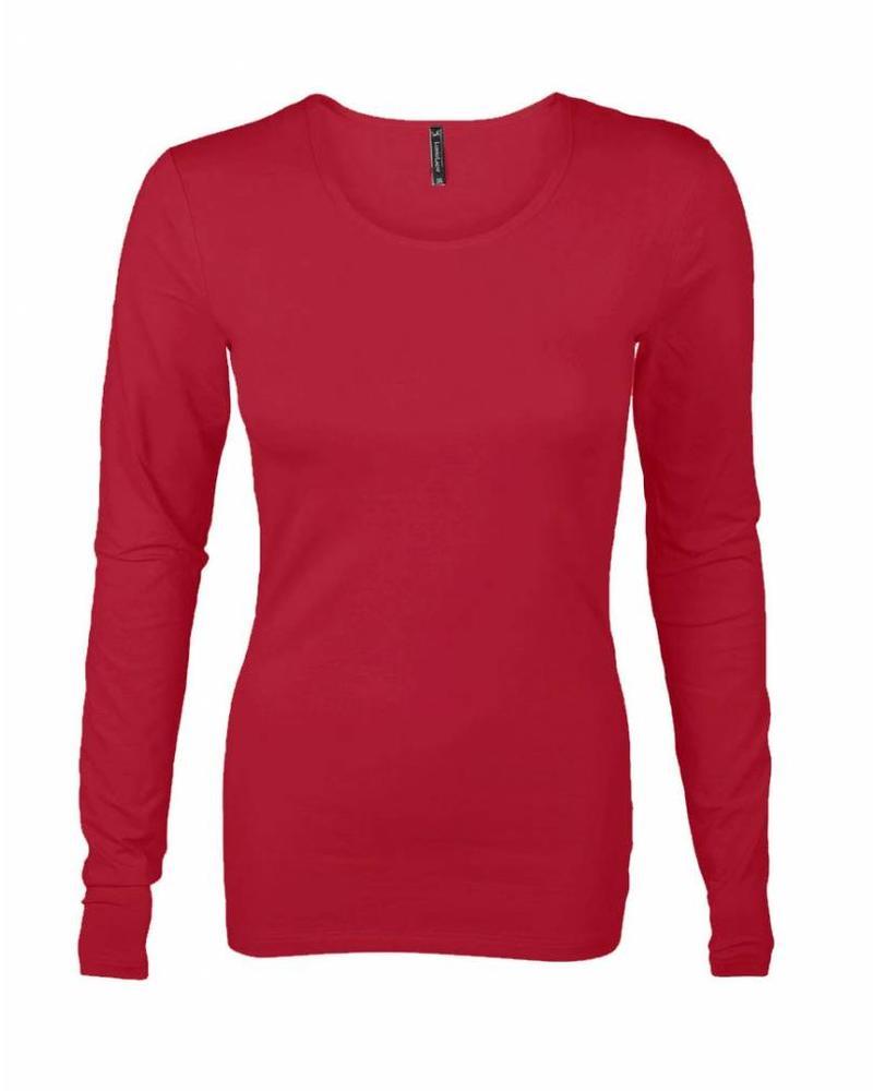 Longlady Shirt Tamilia Rood