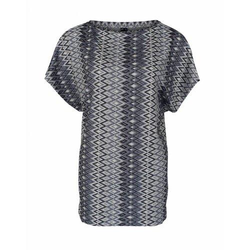 Longlady Longlady Shirt Toos Blauw