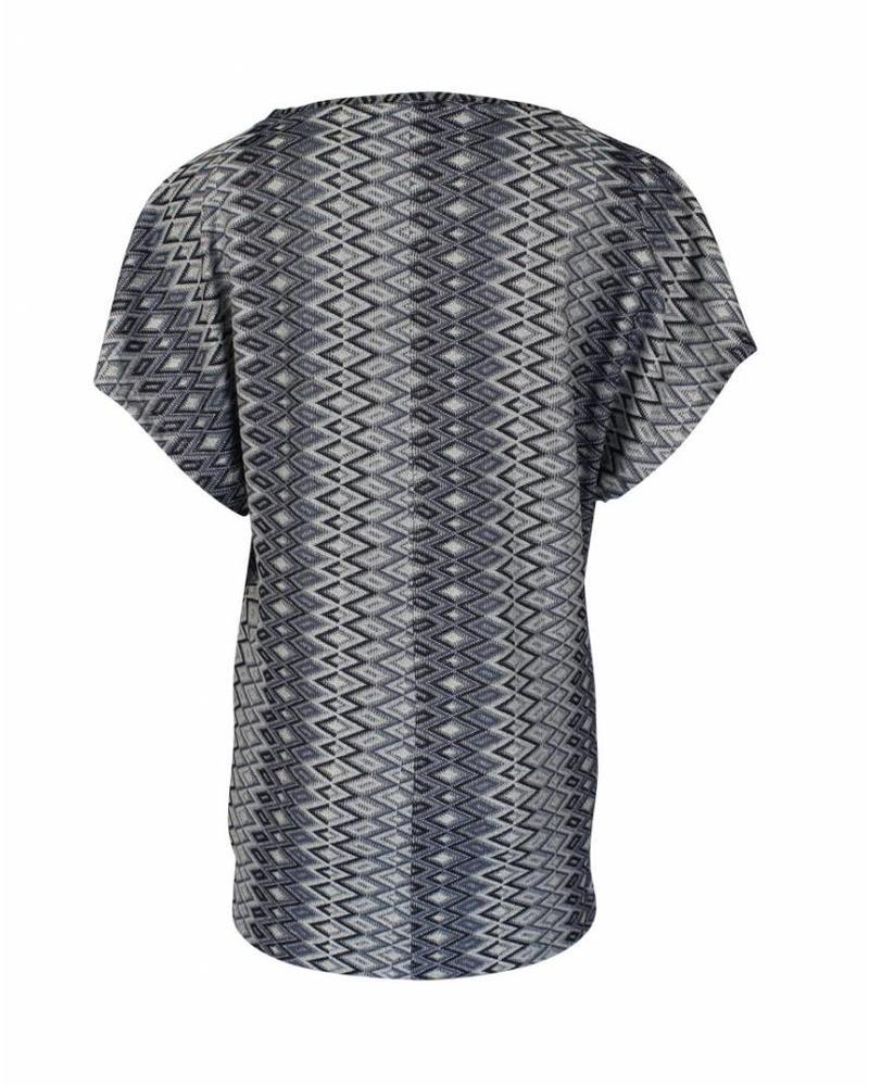 Longlady Shirt Toos Blauw