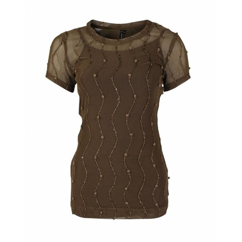Longlady Longlady Shirt Trinka Party Brown