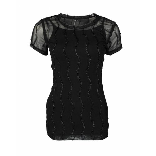 Longlady Longlady Shirt Trinka Party Zwart