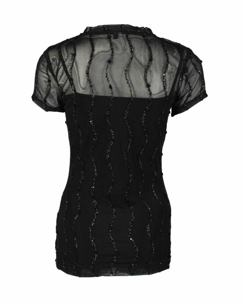 Longlady Shirt Trinka Party Zwart
