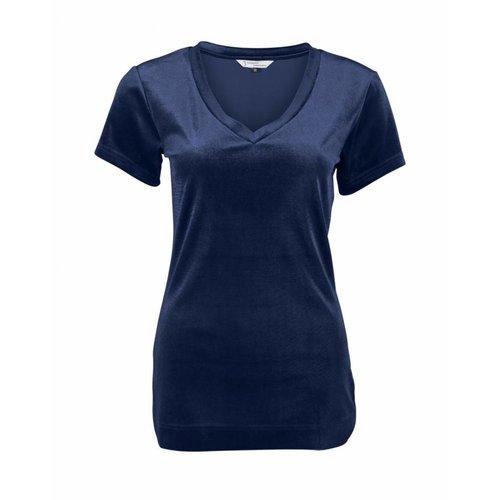 Longlady Longlady Shirt Tani Blauw