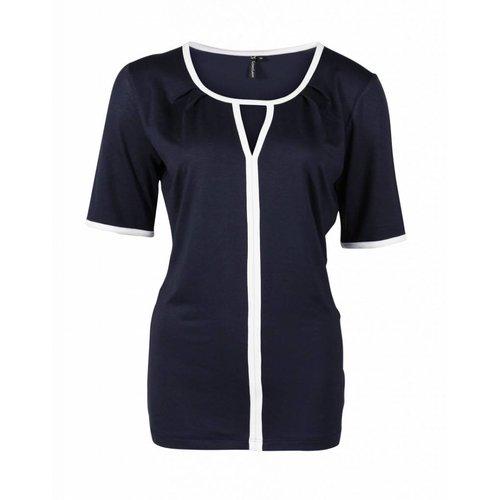 Longlady Longlady Shirt Taaike Blauw