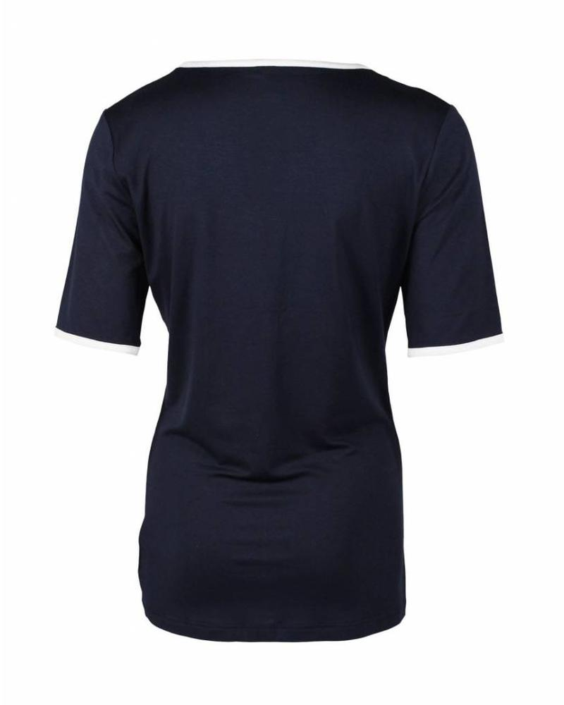 Longlady Shirt Taaike Blauw