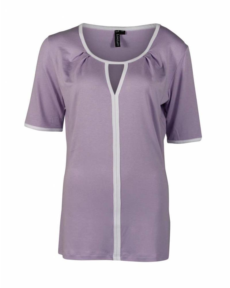 Longlady Shirt Taaike Lila
