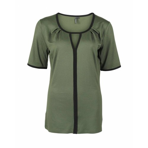 Longlady Longlady Shirt Taaike Khaki