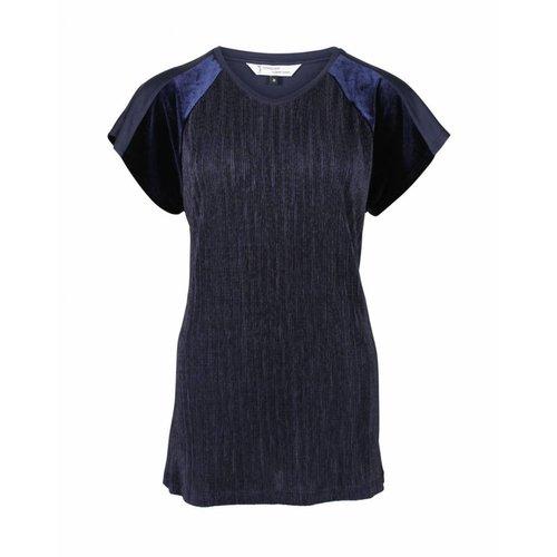 Longlady Longlady Shirt Tina Blauw