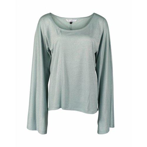 Longlady Longlady Shirt Tinky Lichtblauw