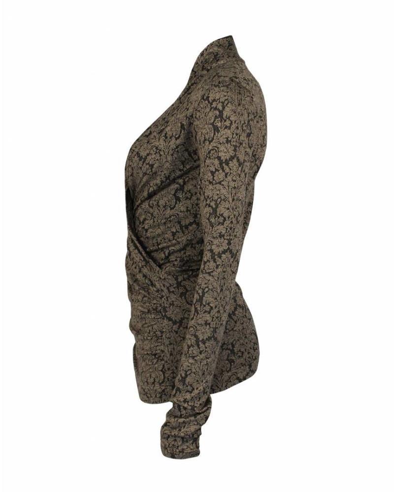 Longlady Wikkelshirt Floor Bruin