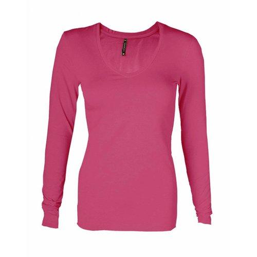 Longlady Longlady T-shirt Tanja Fuchsia