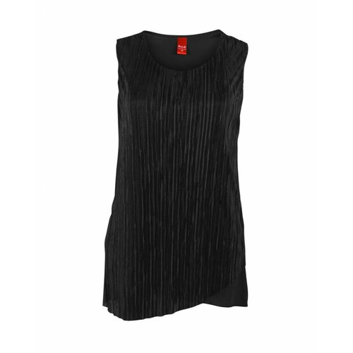 Only-M Only-M Top Plisse Nero