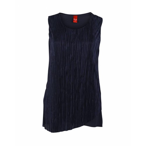 Only-M Only-M Top Plisse Navy