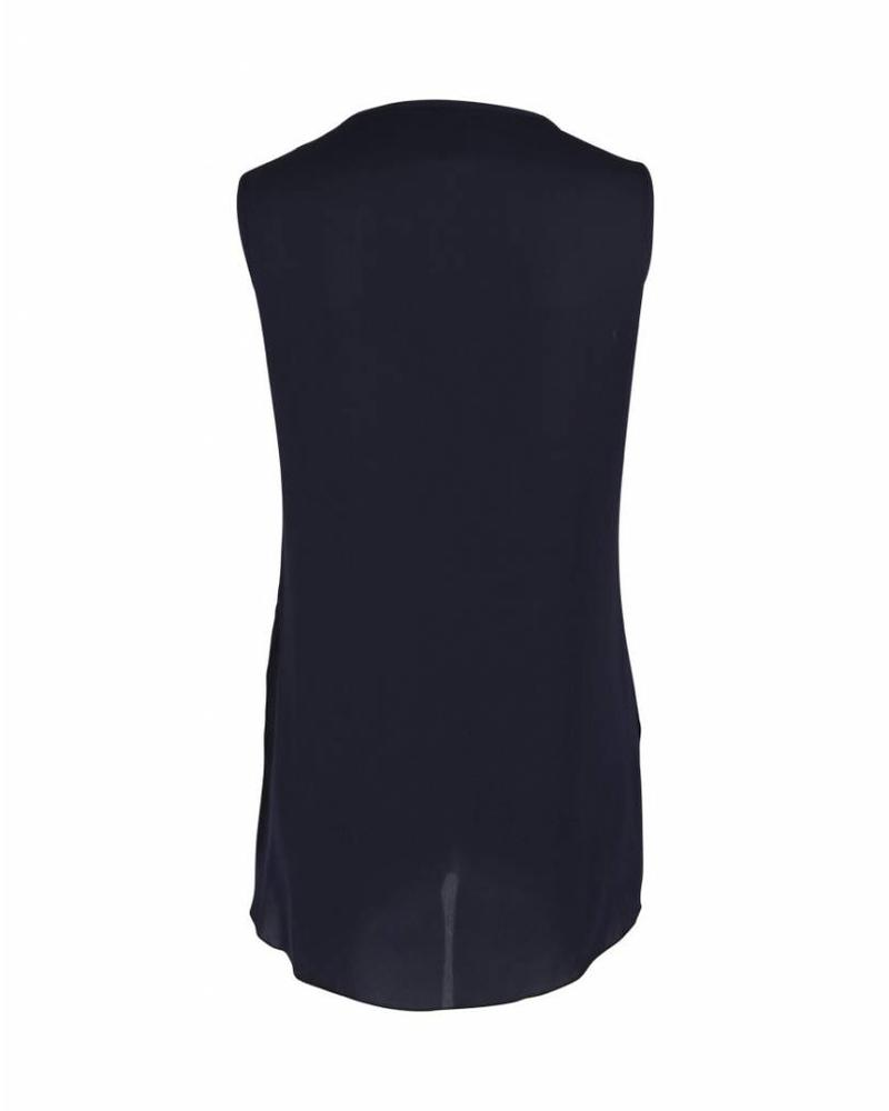 Only-M Top Plisse Navy