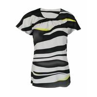 Longlady Shirt Tine Zwartgeel