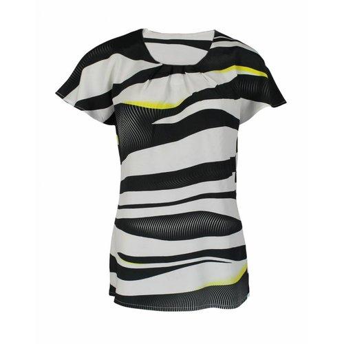 Longlady Longlady Shirt Tine Blackyellow
