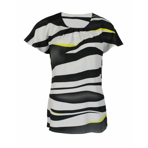 Longlady Longlady Shirt Tine Zwartgeel