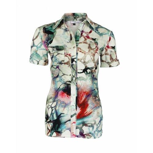 Longlady Longlady Shirt Danie Groen dessin