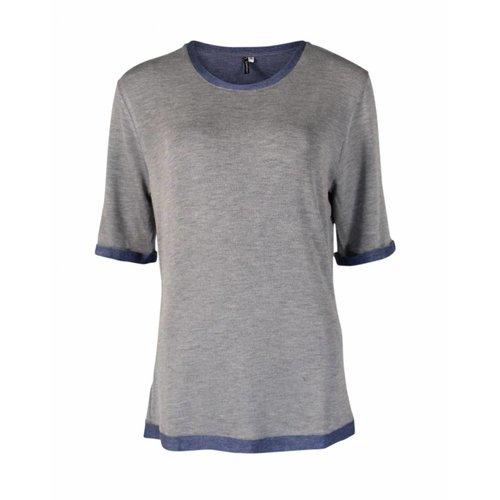 Longlady Longlady Shirt Thea Blauw