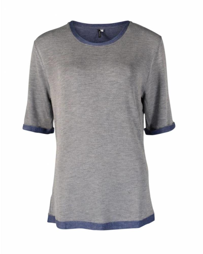 Longlady Shirt Thea Blauw