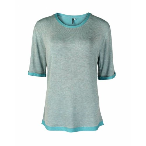 Longlady Longlady Shirt Thea Aqua