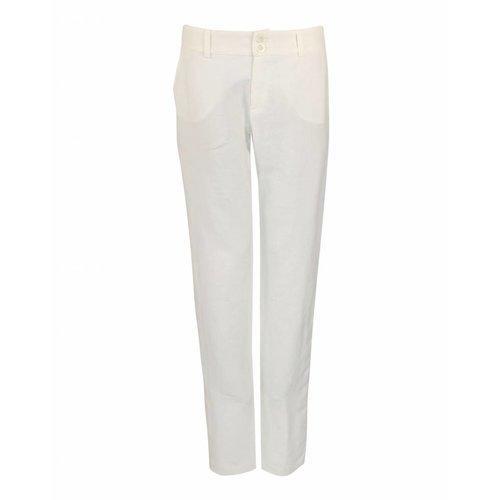 Longlady Longlady Trousers Babet Offwhite