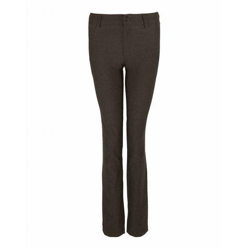 Longlady LongLady Trousers Bree Velvet Darkbrown