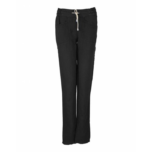 Only-M Only-M Trousers Lino Nero