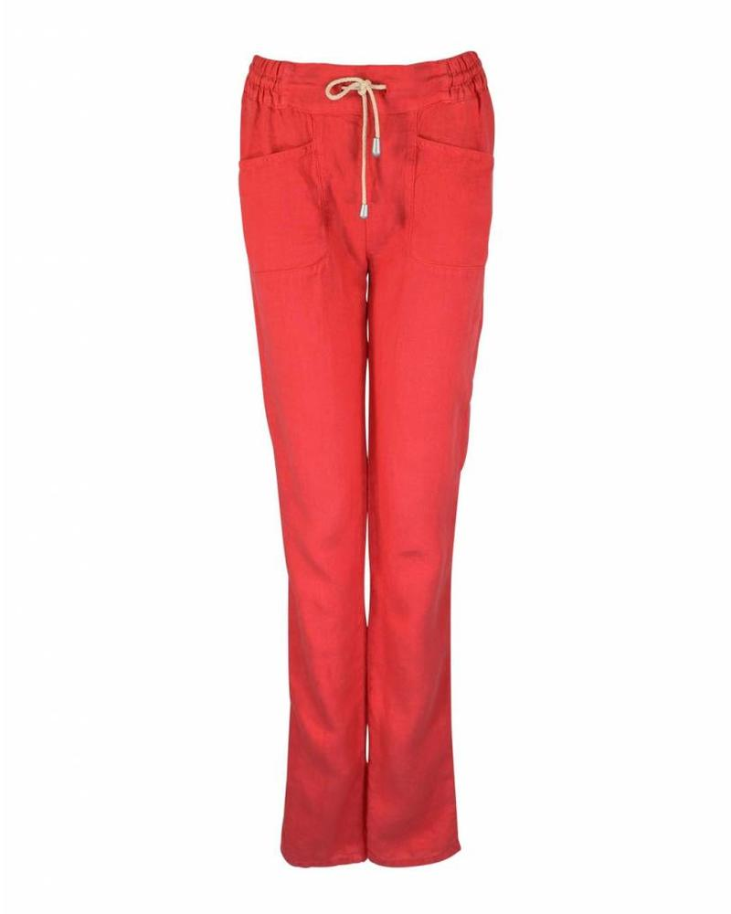 Only-M Trousers Lino Corallo