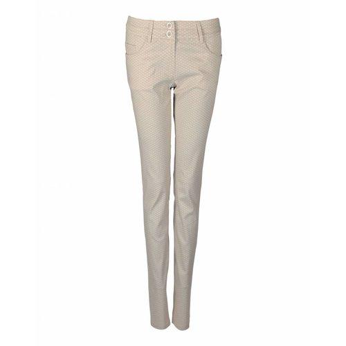 Longlady LongLady Trousers Nataly Beige dessin