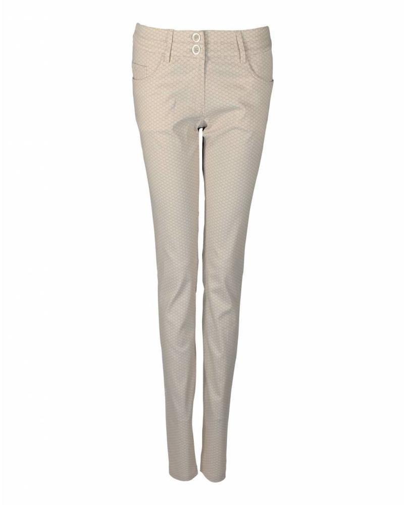 LongLady Trousers Nataly Beige dessin