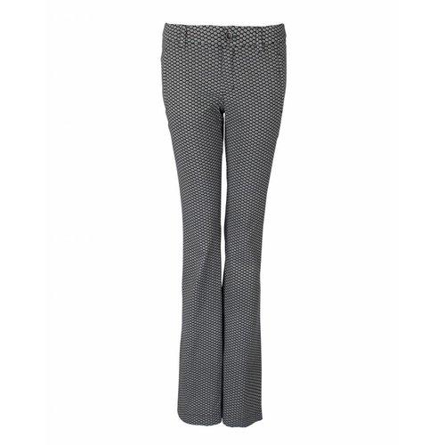 Longlady LongLady Trousers Bree Black Dessin