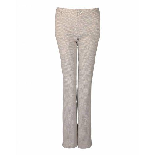 Longlady LongLady Trousers Bree Creme Spot