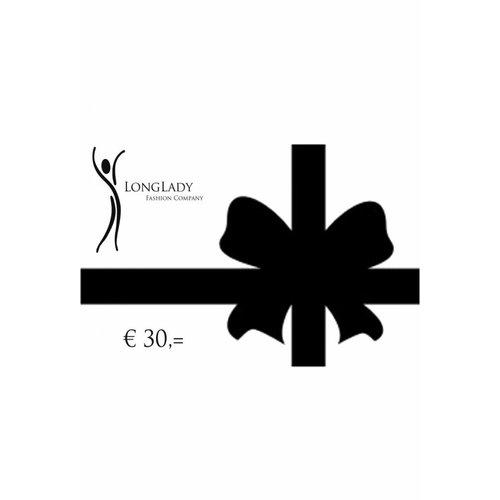 Longlady Giftvoucher €30,=