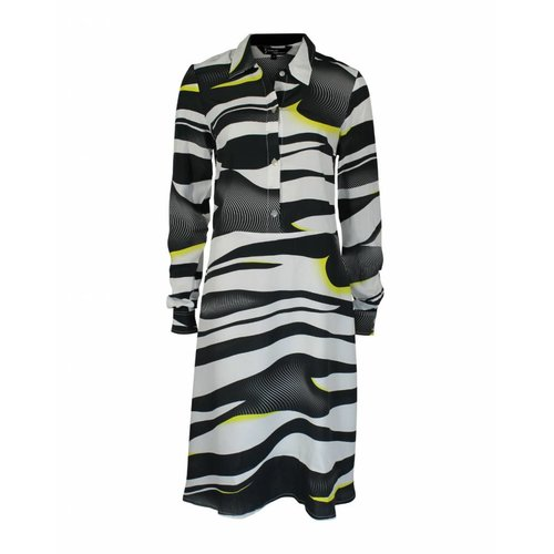 Longlady Longlady Dress Antje Blackyellow