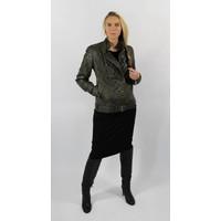 Banhoff Bikerjacket Leather Olive