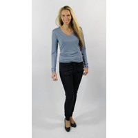 Longlady Shirt Tonny Lichtblauw