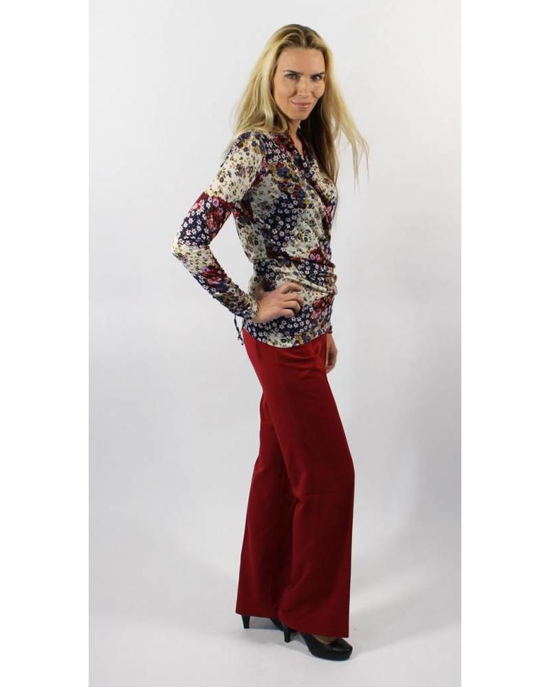 Longlady Wrapshirt Floor Red