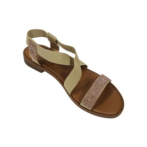 Fitters Fitters Sandaal Camel Glitter