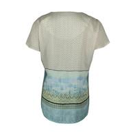 Longlady Shirt Tine Groen Dessin