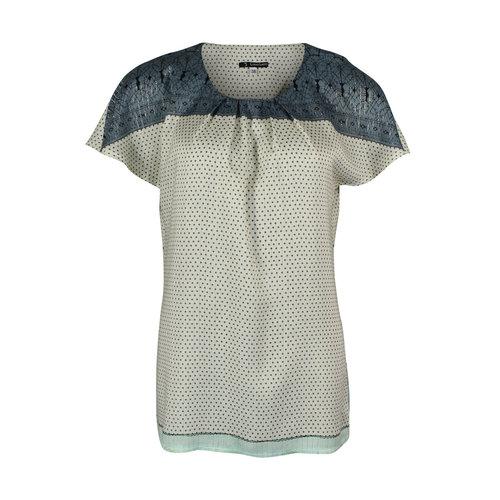 Longlady Longlady Shirt Tine Green Dessin