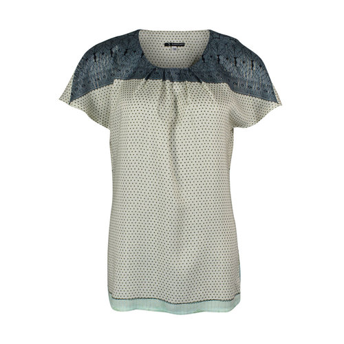 Longlady Longlady Shirt Tine Groen Dessin