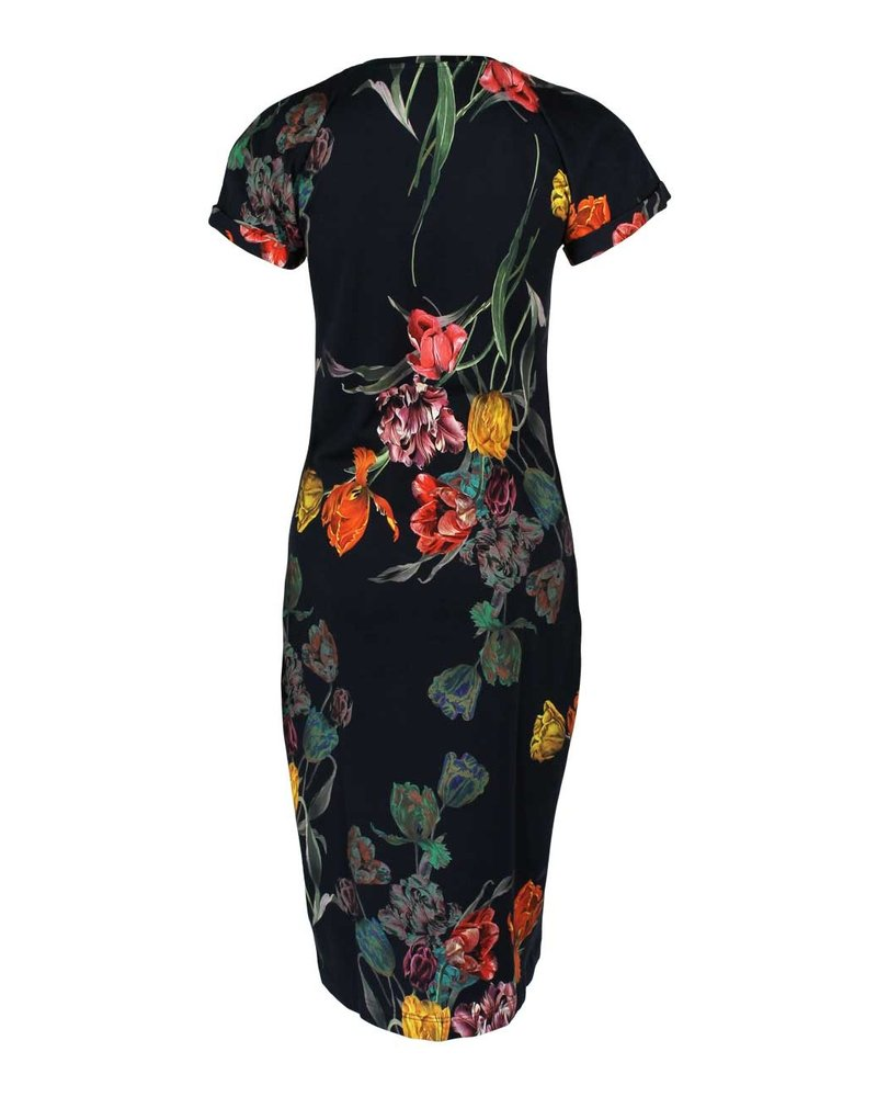 Longlady Dress Anka Blue Tulp